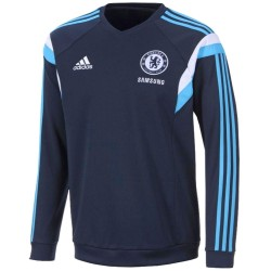 Sweat top d'entrainement bleu FC Chelsea 2014/15 - Adidas