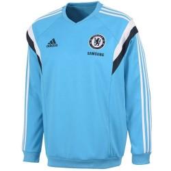 Sweat top d'entrainement bleu clair FC Chelsea 2014/15 - Adidas