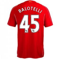 Liverpool FC primera camiseta de fútbol 2014/15 Balotelli 45 - Warrior