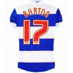 Maillot de foot QPR Queens Park Rangers Home 2013/14 Barton 17 - Lotto