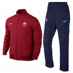 Survetement de présentation France 2014/15 rouge - Adidas