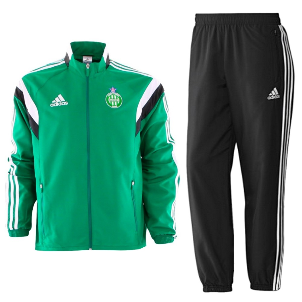 Survetement presentation ASSE Saint Etienne 201415 Adidas SportingPlus Passion for Sport
