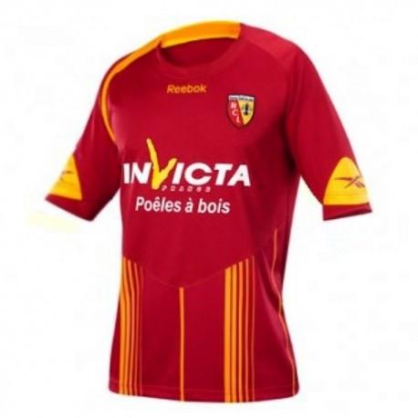 RC Lens casa camiseta de fútbol 09/10 Reebok