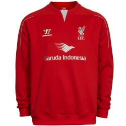 Sudadera de entrenamiento roja FC Liverpool 2014/15 - Warrior