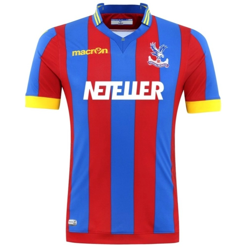 Crystal Palace Fc Home Football Shirt 2014 15 Macron