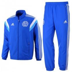Survetement de presentation Olympique Marseille 2014/15 bleu - Adidas