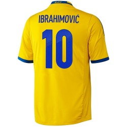 Maillot de foot nationale Suede domicile 2013/14 Ibrahimovic 10 - Adidas