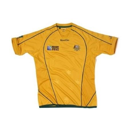 Jersey de Rugby de Australia 2011/12 Inicio World Cup 2011 Match por fabricante KooGa