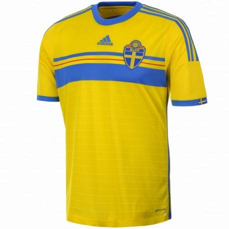 Maglia calcio nazionale Svezia Home 2014/15 - Adidas