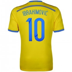 Maillot de foot nationale Suede domicile 2015 Ibrahimovic 10 - Adidas