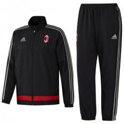 AC Milan schwarz Präsentation Trainingsanzug 2015/16 - Adidas