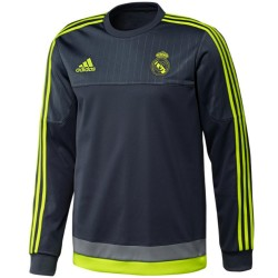 Real Madrid grey training sweat top 2015/16 - Adidas