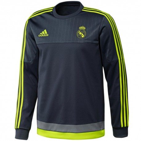 Real Madrid grey training sweat top 2015/16 - Adidas