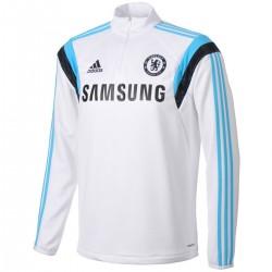 Sudadera tecnica de entrenamiento FC Chelsea blanca 2014/15 - Adidas