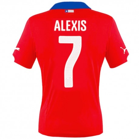 Chile national team Home football shirt 2014/15 Alexis 7 - Puma
