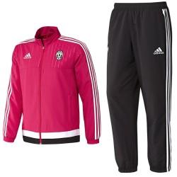 Juventus Turin Präsentation Trainingsanzug 2015/16 rosa - Adidas
