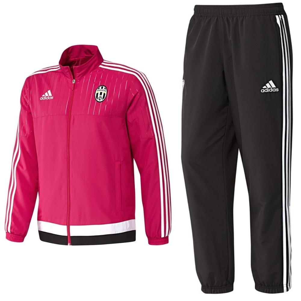 Survetement de presentation Juventus 201516 rose Adidas