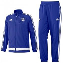 FC Chelsea blau Präsentation Trainingsanzug 2015/16 - Adidas