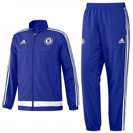 discount sale size 40 beauty Survetement de présentation bleu FC Chelsea 2015/16 - Adidas ...