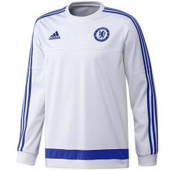 Sweat d'entraînement FC Chelsea 2015/16 blanc - Adidas
