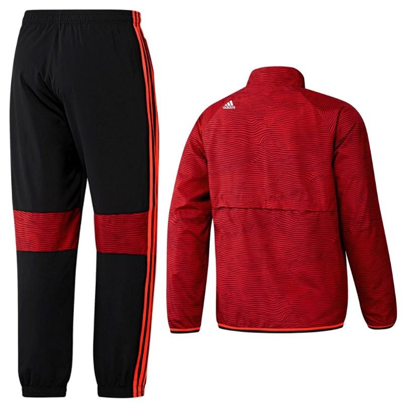 c502d1af1d1b6 ... Chandal de presentacion rojo Manchester United Champions League 2015 16  - Adidas ...