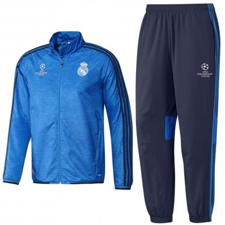 outlet store 3b5e1 17ebe Real Madrid UCL presentation tracksuit 2015/16 - Adidas ...