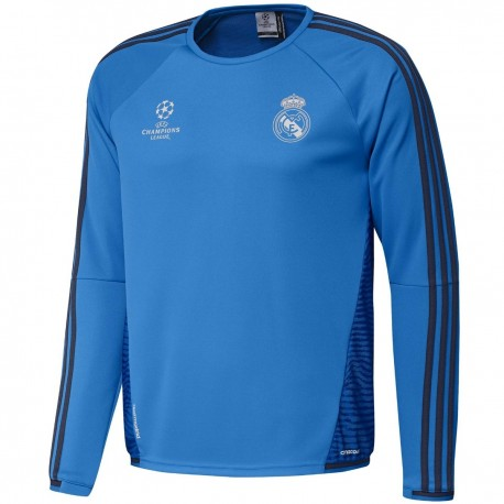 new concept 11812 ee370 Real Madrid UCL training lightweight sweat top 2015/16 ...