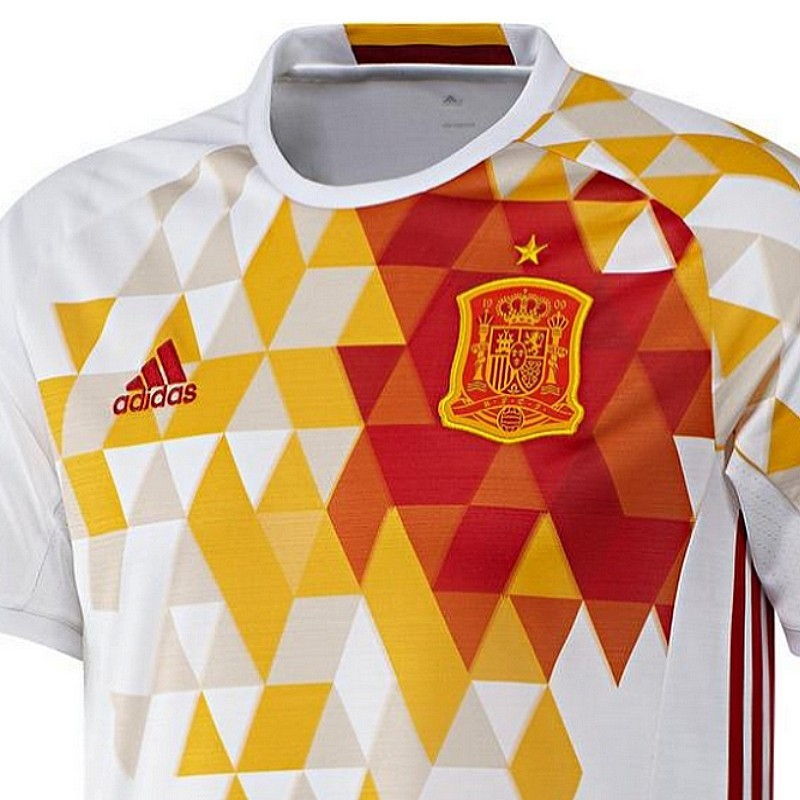 best service bb108 d3454 Spain national team Away football shirt 2016/17 - Adidas ...