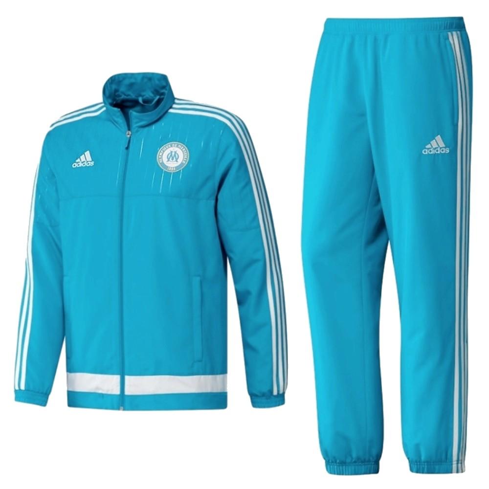Olympique de Marseille presentation tracksuit 201516 light blue Adidas SportingPlus Passion for Sport