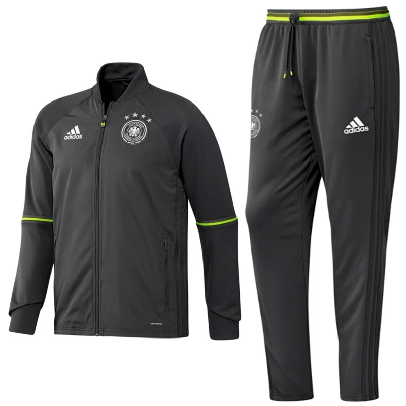 Germany Football Training Tracksuit Euro 2016 Grey