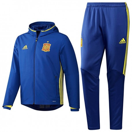 best website 49720 cf7ed Spain football presentation tracksuit Euro 2016 blue - Adidas