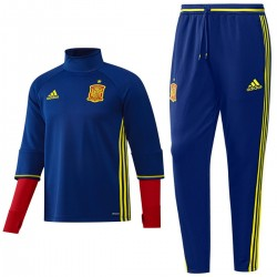 Spain training technical tracksuit Euro 2016 blue - Adidas