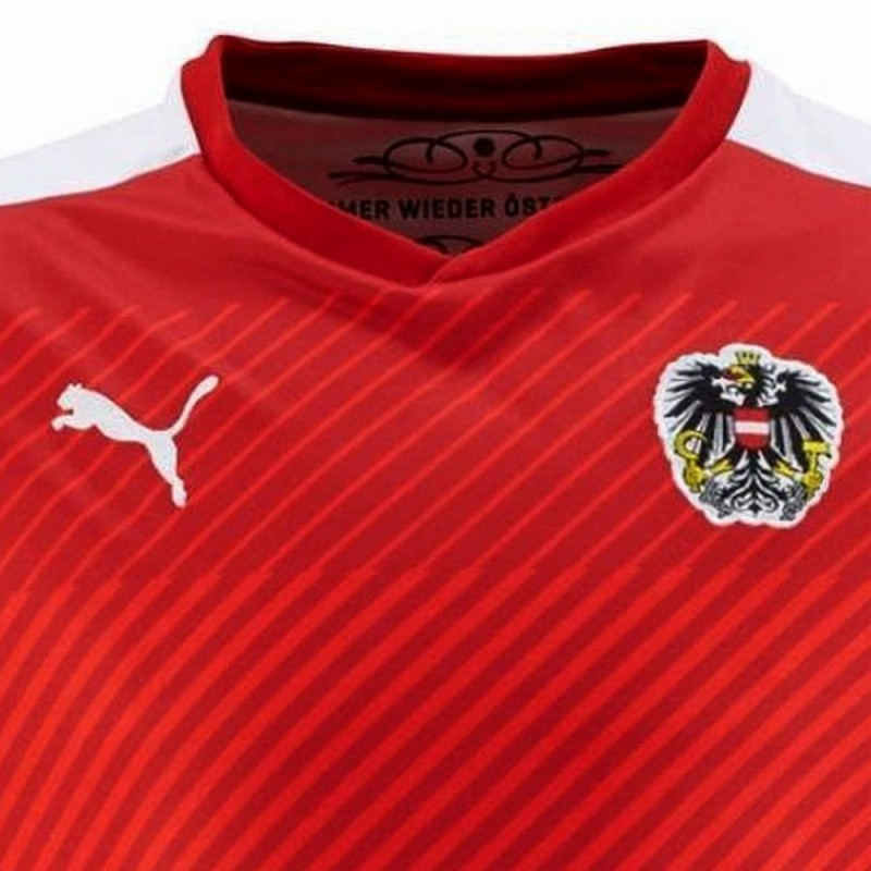 brand new be65e 4a420 Austria national team Home football shirt 2016/17 - Puma ...
