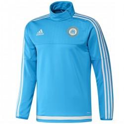 Tech sweat top d'entrainement Olympique Marseille 2015/16 bleu - Adidas