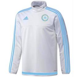 Tech sweat top d'entrainement blanc Olympique Marseille 2015/16 - Adidas