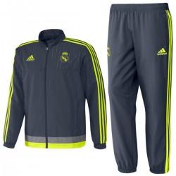 Real Madrid CF präsentationsanzug 2015/16 grau - Adidas