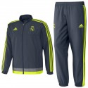 Real Madrid presentation tracksuit 2015/16 grey - Adidas