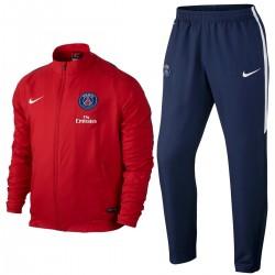 Survêtement rouge de présentation Paris Saint Germain PSG 2016 - Nike