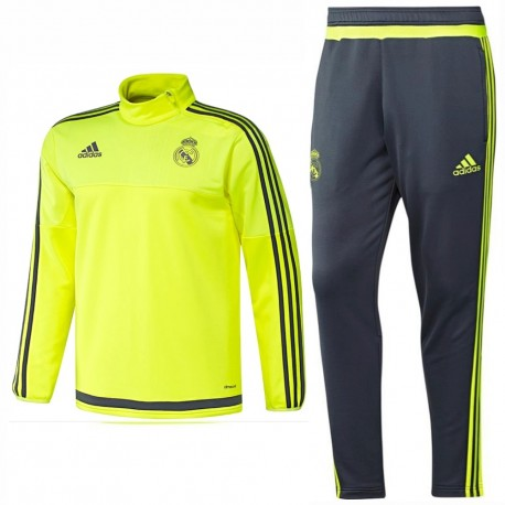 Chandal tecnico de entreno Real Madrid 2015 16 fluo - Adidas ... f52db22af1aa4