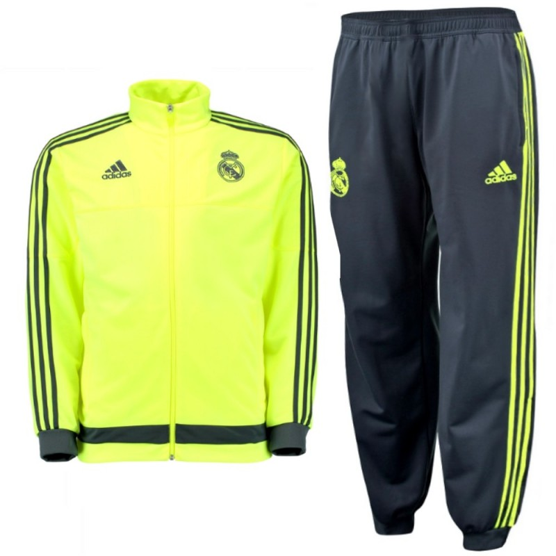 survetement jogging d 39 entrainement fluo real madrid 2015. Black Bedroom Furniture Sets. Home Design Ideas