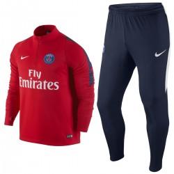 Survêtement tech rouge d'entrainement Paris Saint Germain PSG 2016 - Nike