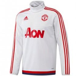 Felpa tecnica allenamento bianca Manchester United 2016 - Adidas