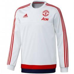 Felpa da allenamento bianca Manchester United 2016 - Adidas