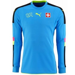 Schweiz Fussball torwart trikot 2016/17 light blue - Puma