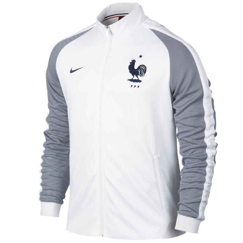 Chaqueta presentacion N98 seleccion Francia 2016 17 blanca - Nike ... c505a07329ae6