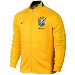 Brasilien Fussball N98 präsentationsjacke 2016/17 gelb - Nike