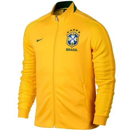 Chaqueta presentacion N98 seleccion Brasil 2016/17 amarillo - Nike