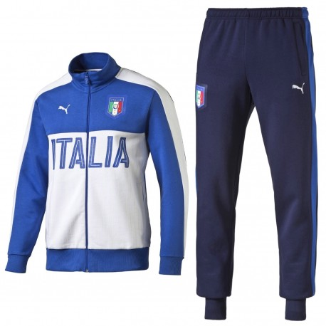 c1b071334a92 Italy Fans cotton presentation tracksuit 2016 17 white - Puma ...