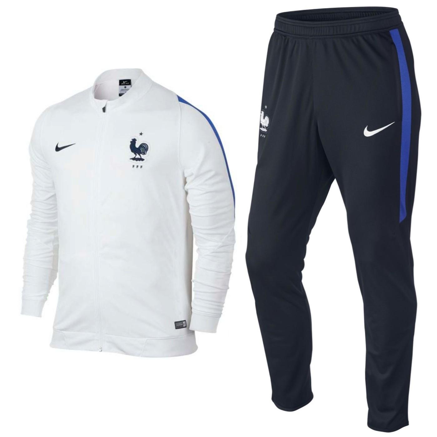 Frankreich Fussball team Trainingsanzug 201617 weiss Nike