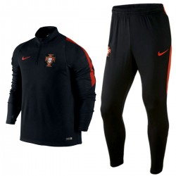 Portugal football team tech training tracksuit 2016/17 black - Nike